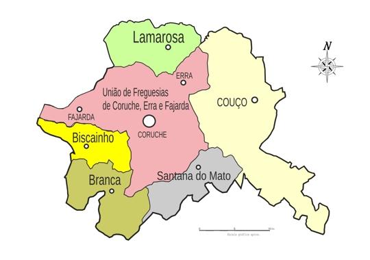 coruche mapa Juntas de Freguesia   Câmara Municipal de Coruche coruche mapa